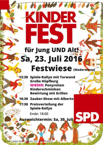 Zauberer Alberto beim Kinderfest für Jung und Alt in Ottobrunn am 23.07.2016, Foto der Veranstaltung